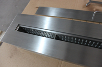 Changzhou great indoor stainless steel fireplace insert, decorative fireplace chimney