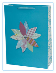 Promotional Blue 3D Paper Bag in stock
