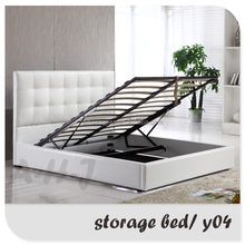 Home Furniture Prado Gas Lift Ottoman faux leather Storage Bed