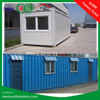 light steel frame prefab portable container house villa, office, home