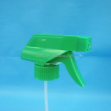 28mm Green Plastic Trigger Sprayers , Plastic Trigger Pump Sprayers Cosmetic Packaging China Provider