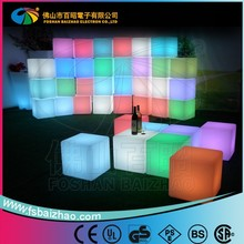 Remote Control led cube seat light / led cube table / led light cube