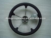 stainless steel steering wheel-W/PU foam