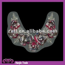 2012 Lady's Distinctive Chiffon Flower Lace Neckline for Garments