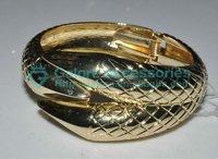 fashion gold big snake bangle bracelet image