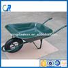 Solid rubber tire steel handle wheelbarrow for heavy duty