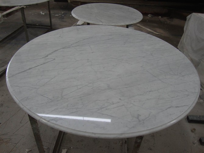 Natural Custom Cut Carrara Marble Table Top Buy Marble