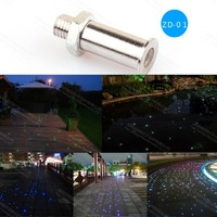 ZD-01waterproof safely use easy installation fiber optic pool light end fitting for swimming sauna floor lighting