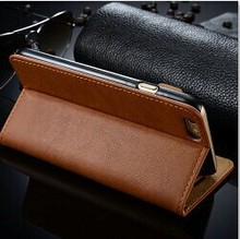 2015 Wholesale Deal Luxury accessories phone case ultra thin leather flip cover for iphone 6 ,for iphone 6 cover