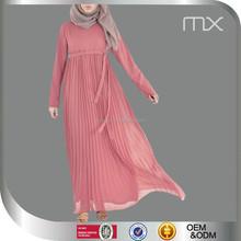 newest muslim garment islamic abaya dress jubah muslimah new design chiffon jalabiya dress 2013