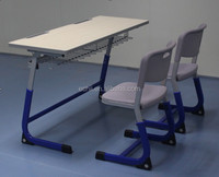 CYD363 Double school desk and chair /Adjustable desk and chair/Durable school furniture desk and chair