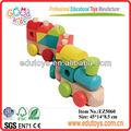 de madera de tren de juguete divertido para los niños