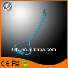 Fashion LED Visible light data audio cable for /ipad led cable
