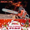 2-stroke gasoline chain saw with brand new plastic and magnesium alloy