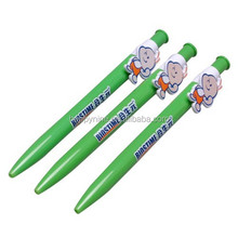 Promotional cheap ballpoint pen with figure clip / Custom clip cartoon pen