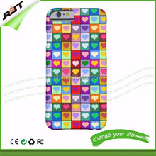 Colorful Heart Squares Abstract Art Pattern hard PC phone case anti-scratch factory price for iphone 6 / iphone 6 plus
