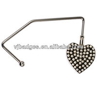 foldable purse hook/bag hanger/handebag holder with customized logo