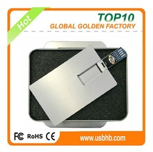 Full capacity white ultra-thin credit card usb pen drive 32gb for promotionals