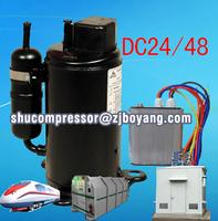 R134a 24/48v compressor for electric truck air conditioner electric car heater aire acondicionado 12v