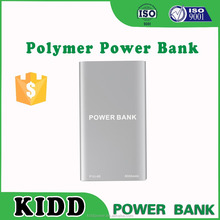 Super slim 6000mah power bank silver