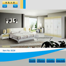 High gloss and baking bedroom sets of home furniture(833)