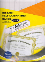 A4 self-sealing laminating film/self-laminating film pouches for photo, document