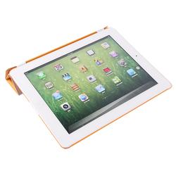 Good qulity Slim PU Leather cases for ipad 4 Wake Sleep Ultra-thin 10 colors