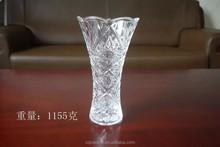 Wholesale decorative household cheap fancy antique glass vase(glass factory)