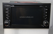 Wince touch sceen 2 din car gps for audi a4 with iPod, dvd, bt, usb, Radio, analog tv, steering wheel control