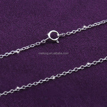 fashion simple long silver chain necklace 925 sterling siver DIY chain