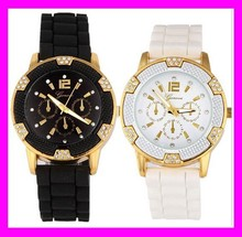 New wholesale price fashion trend design silicone geneva diamond quartz watches HD1881
