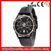 Most popular chronograph watch vogue men silicone rubber wrist watch