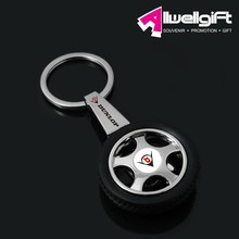 Rotary Wheel Tyre Key Chain for Car and Tyre Logo