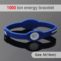 Promotion 1000 ion Fashion Health Fitness Silicone Customised Football Wristband Sport
