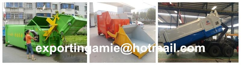 Cheapest Price Top Grade Portable 8m3 Waste Bin Compactor