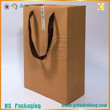kraft paper 2 wine bottles carrier bags