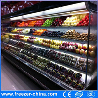 Upright air cooled chiller factory price Sanyo compressor supermarket refrigerator Chinese retail