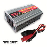 wellsee new energy 350w car inverter power converter connect with battery for solar energy system WS-IC350