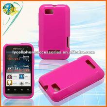 For Motorola XT320 Defy Mini Solid Hotpink Cell Phone Tpu Skin
