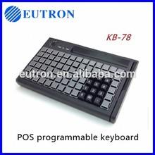 terminal punto de venta el bloqueo de teclas programables teclado con lector de tarjetas