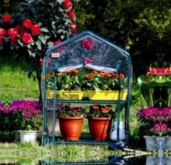 2 tier greenhouse film fastening garden house for flower and plant