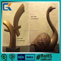 Euro best selling custom design bronze swan shaped metal handicrafts