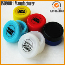 food grade silicone customized bho oil container silicone wax container