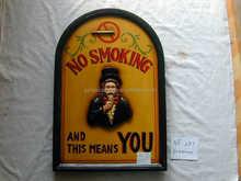 no smoking sign board for bar or restaurant decoration,portable notice board,bar furniture for bar decor