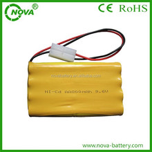 nicd aa 800mah rechargeable battery pack 9.6v