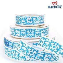 Mafolen personalizado impresso flor padrão china artesanato com fitas de cetim importados