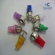 12V Auto T10 LED Bulb 5SMD T10 5050 Width Lamp Car Led Headlight