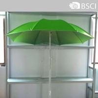 High quality steel frame 2 folding beach umbrella