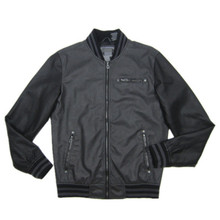 new popular cheap men's hight quality pu leather normal washed slim fit motorcycle jacket with rib