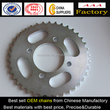 motorcycle forged sprocket with Honda, colorful motorcycle spare part sprocket, motorcycle transmission sprocket and chain
